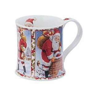 Dunoon Seasons Greetings Santa Wessex shape Mug