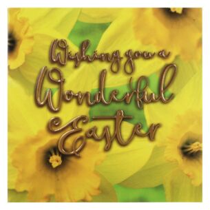 'Daffodils' Easter Card