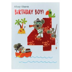 Pirate 4th Birthday Card