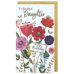 Second Nature Flowers 'Beautiful Daughter' Birthday Card