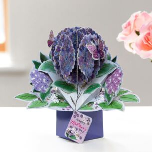 Hydrangea Mother's Day Pop Up Card