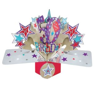 '50th Birthday' Pop Up Card