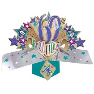 '60th Birthday' Pop Up Card