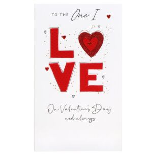 Second Nature One I Love Typography Valentine's Day Card