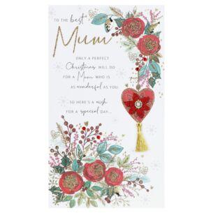 'Mum' Christmas Flowers Christmas Card