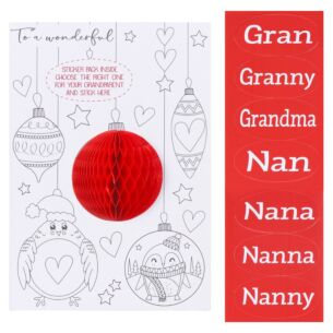 Personalisable 'Grandma/Nanny' Colour-Me-In Christmas Card