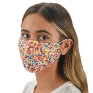 Face Cover with Flexible Nose Bridge - Splatter