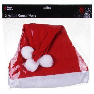 Pack of 3 Santa Hats