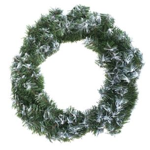 """18"""" Snow Tipped Christmas Wreath Decoration"""