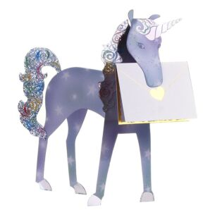 Unicorn 3D Greeting Card