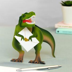Rex Dinosaur 3D Card