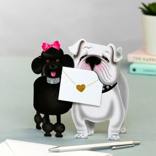Curlychops Dogs 3D Greeting Card