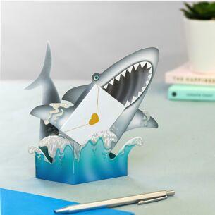 Finn The Shark 3D Greeting Card