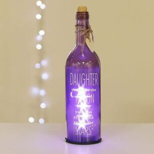 'Daughter' Purple Light Up LED Bottle