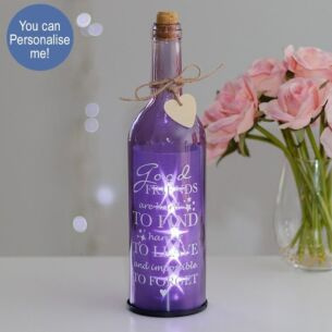 Temptation Good friends are hard to find Purple Light Up LED Bottle