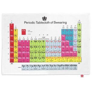 'Periodic Table of Swearing' Tea Towel