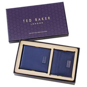 LOANE Blue Wallet And Card Holder Gift Set