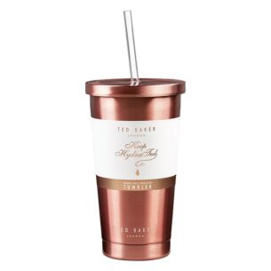 Rose Gold Tumbler and Straw