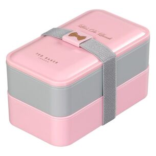 Pink & Grey Lunch-Box Stack