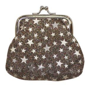 Silver Glitter Stars Purse