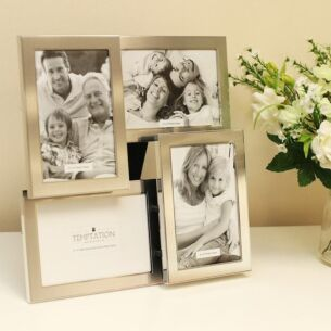 Satin Silver Collage Photo Frame 4 6x4