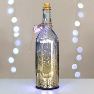 Temptation Champagne & Silver LED Firefly Bottle