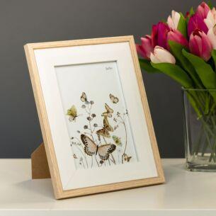 Temptation Light Wood & White Bevelled 5x7 Frame