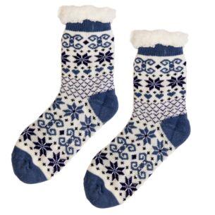 Blue Sherpa Lined Socks