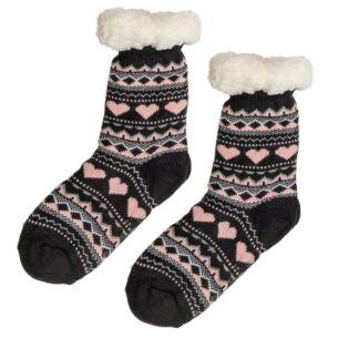 Dark Grey Sherpa Lined Socks