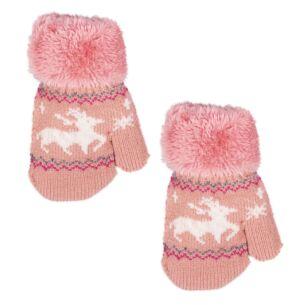 Pink Children's Mittens
