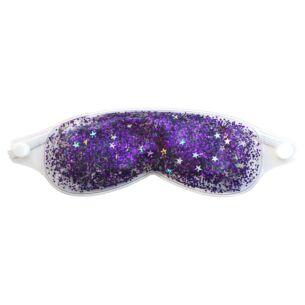 Purple Cooling Glitter Gel Eye Mask