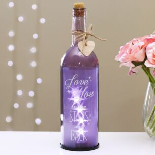 'Love You' Purple LED Starlit Bottle
