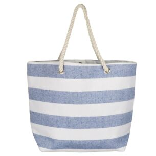 Blue Stripe Beach Bag