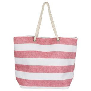 Pink Stripe Beach Bag