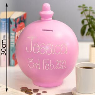 Extra Large Personalisable Light Pink Money Pot