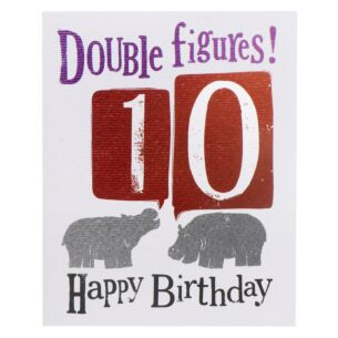 'Double Figures! 10' Birthday Card
