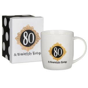 '80 & Wonderfully Vintage' Boxed Mug