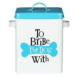 """""""To Bribe"""" Dog Treats Tin"""