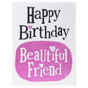 The Bright Side Happy Birthday Beautiful Friend Card
