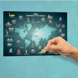 Wonders of the World A2 Scratch Poster