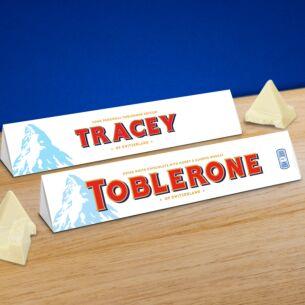 Personalised Toblerone 360g Bar – White Chocolate