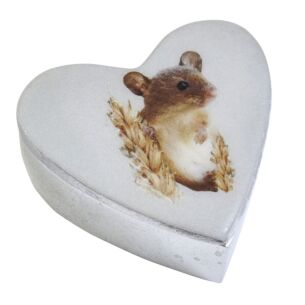 Field Mouse Small Heart Box