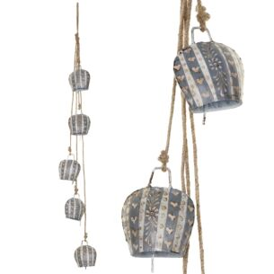 Transomnia String of Five Lucerne Cow Bells