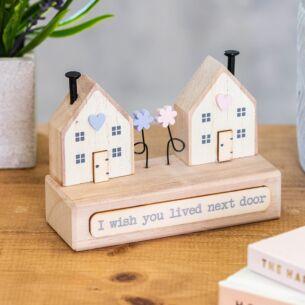'I Wish You Lived Next Door' Wooden Houses