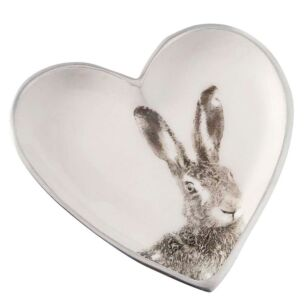 Hare Heart-Shaped Dish
