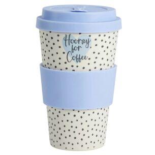 Ophelia 'Hooray for Coffee' Bamboo Travel Mug