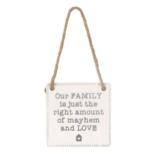 'Our Family Is' Ceramic Sign