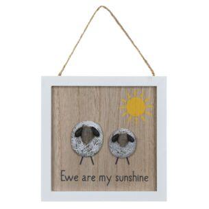 'Ewe Are My Sunshine' Pebble Sign