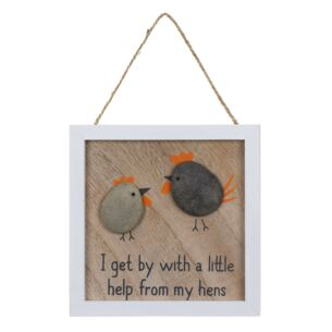 'My Hens' Pebble Sign
