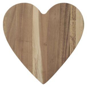 Acacia Wood Heart Chopping Board
